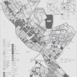 筑西市関城地区舟生土地利用図