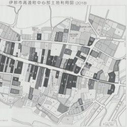 伊那市高遠町中心部土地利用図