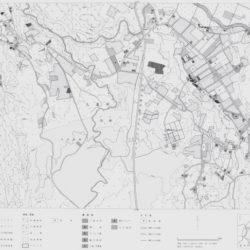 飯田高原中央部の土地利用図